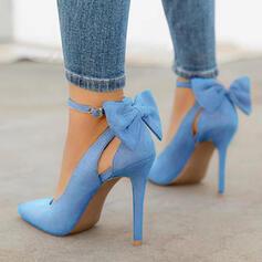 Vrouwen Microfiber leer Stiletto Heel Pumps met strik schoenen