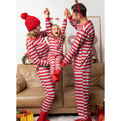 Stribe Familie Matchende Jul Pyjamas