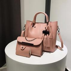 Elegant/Modern/Enfärgad/Super bekvämt/Mammas väska Tygväskor/Crossbody Väskor/Bag Súpravy/Hinkväskor