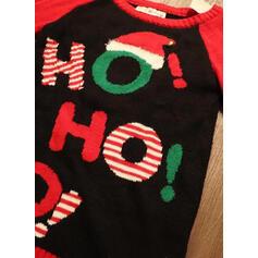 Damskie Poliester Wydrukować List Brzydki świąteczny sweter