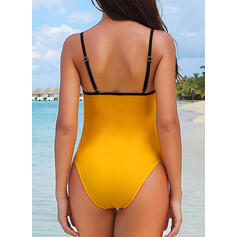 Solid Color Strap Sexy Elegant Beautiful One-piece Swimsuits