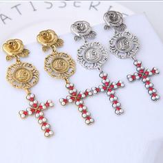 Vintage Alloy Rhinestones Imitation Pearls With Imitation Pearl Rhinestone Women's Fashion Earrings (Set of 2)