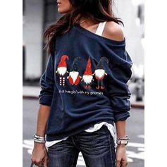 Cotton Print Christmas Christmas Sweatshirt