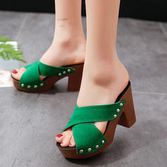 Women's PU Chunky Heel Sandals Pumps Platform Peep Toe With Others shoes