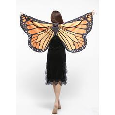 Impronta animale/Colorato Scialle/Halloween/Ali sagomati/Da donna/Disegno della farfalla Scialle