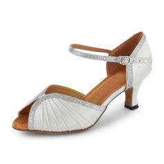 Women's Leatherette Sparkling Glitter Heels Sandals Ballroom Swing Dance Shoes