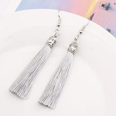 Exotic Alloy Braided Rope With Tassels Women's Earrings (Sold in a single piece)