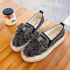 Women's PU Casual Outdoor With Rhinestone Bowknot shoes