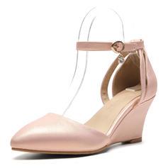 Dla kobiet PU Obcas Koturnowy Sandały Koturny Z Klamra obuwie