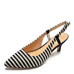 Dla kobiet Tkanina Obcas Stiletto Sandały Czólenka obuwie