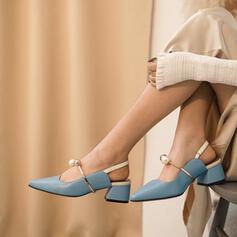 Femmes PU Talon bottier Escarpins Bout pointu avec Ouvertes chaussures