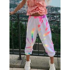 Imprimeu bağlama boyası Uzun gündelik Sportif Pantolonlar