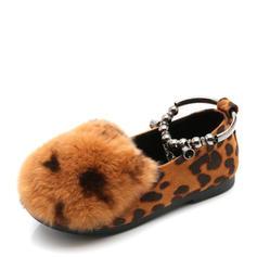 Girl's Closed Toe Suede Flat Heel Flats