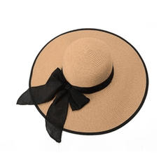Ladies' Raffia Straw With Bowknot Beach/Sun Hats
