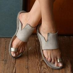 Women's PU Flat Heel Slippers With Others shoes