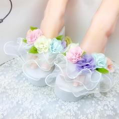 Pentru Femei Porumb Platforme Înalte Platforme Şlapi cu Floare pantofi