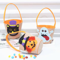 Trick or Treat Buckets, Halloween Candy Bucket Bags-Kids(Set of 2)