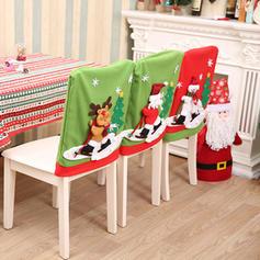 Fröhliche Weihnachten Schneemann Rentier Santa Vlies Stuhlbezug