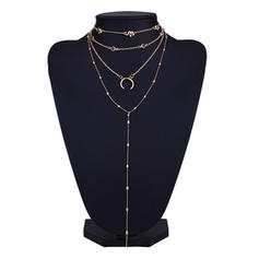 Fashionable Alloy With Gem Women's Fashion Necklace