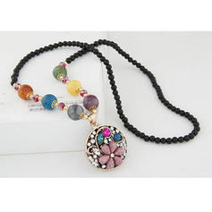 Beau Alliage Strass Perles Femmes Colliers