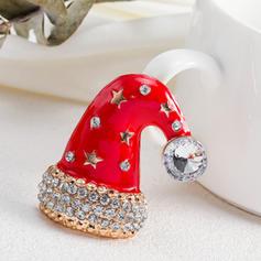 Uniek Schijnt Legering met Strass Mode Broches Kerst sieraden