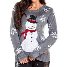 Dames Polyester Print Lelijke kerstsweater