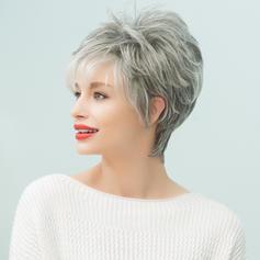 Rovný Mix pravých vlasů Paruky z pravých vlasů 80g