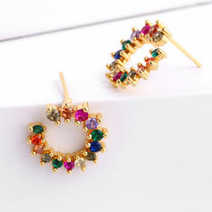 Exotic Chic Alloy With CZ Cubic Zirconia Earrings