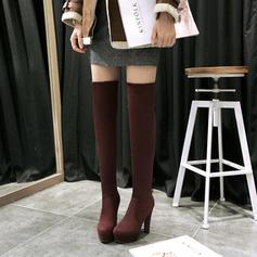 Femmes Suède Talon bottier Escarpins Plateforme Bottes Cuissardes chaussures