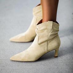 Women's PU Kitten Heel Boots shoes