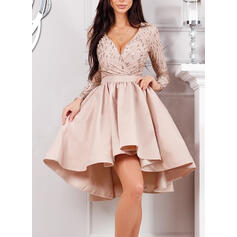 Sequins Long Sleeves A-line Knee Length Party/Elegant Skater Dresses
