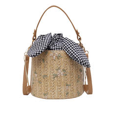 Fashionable PU/Straw Shoulder Bags/Beach Bags/Bucket Bags