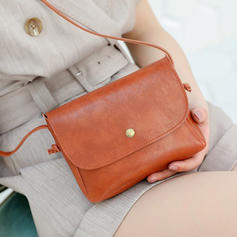 Solid Color Crossbody Tasker/Skuldertasker