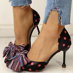 Bayanlar PU Düşük Topuk Pompalar Sivri parmak Ile İlmek ayakkabı