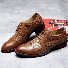Cordones Casual Trabajo Piel Hombres Zapatos Oxford de caballero