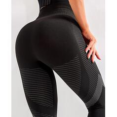 Sólido Grandes Sexy Magro Listra Leggings