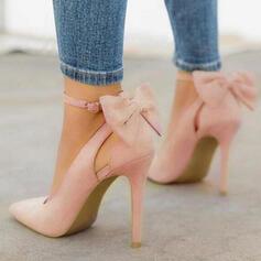 De mujer Cuero de Microfibra Tacón stilettos Salón con Bowknot zapatos