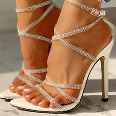 Femmes PU Talon stiletto avec Strass chaussures