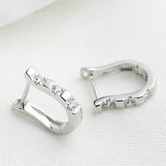Elegante Aleación Diamantes de imitación Señoras' Pendientes