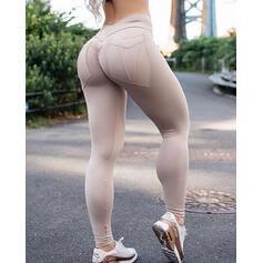 Solid Long Skinny Sporty Leggings