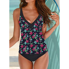 Floral Print Strap Sexy Beautiful Tankinis Swimsuits