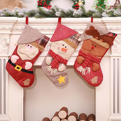 god jul Snømann reinsdyr nisse hengende Gavepose Klut Julepynt Strømper