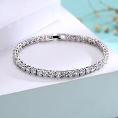 Brillant Platine plaqué avec Zircon de Dames Bracelets de mode