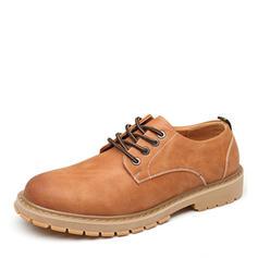 Cordones Casual Trabajo Cuero Hombres Zapatos Oxford de caballero
