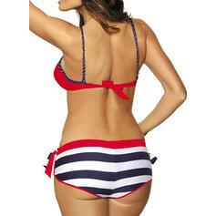 Gestreift Hochdrücken Träger Sexy Ins Auge Fallend Bikinis Bademode