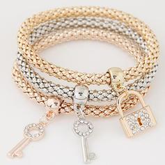 Charmant Alliage Strass avec Strass Dames Bracelets de mode (Lot de 3)