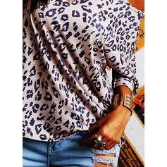 lampart Okrągły dekolt Krótkie rękawy T-shirty