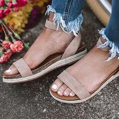 De mujer PU Tacón plano con Hebilla zapatos
