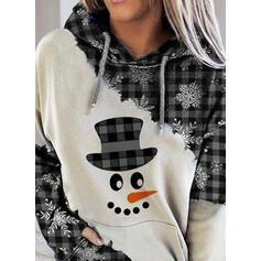 Nyomtatás Rács Hosszú ujjú Karácsonyi pulóver