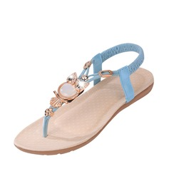 Femmes Suède Talon compensé Sandales À bout ouvert Escarpins avec Strass Élastique chaussures